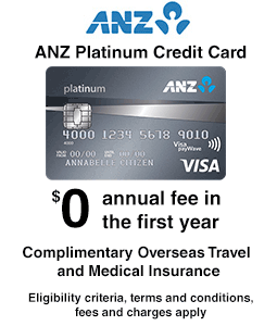 ANZ Platinum charge card