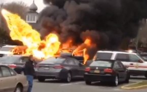 extended Island guy Blows Up Car in Supermarket Parking Lot