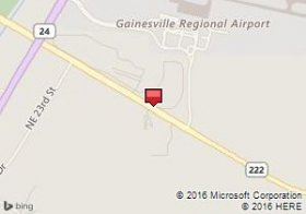 Map of Budget venue:Gainesville Regional Airport