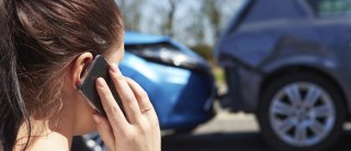 in the phone following an auto accident