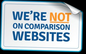 we have been instead of Comparison Websites